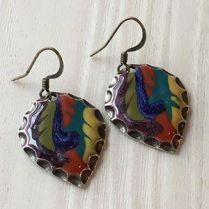 Jewelry - NWOT BOHO earrings in vivid colors